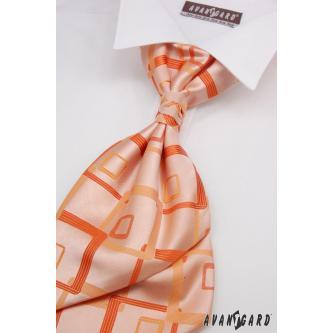 Pánská oranžová regata s kapesníčkem zn. Avantgard 555-71114-0