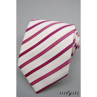 Pánská růžová kravata zn. Avantgard 559-1187-0