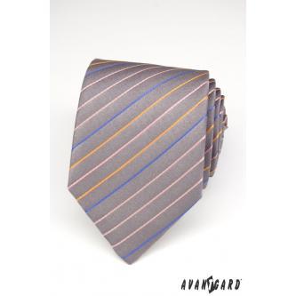 Pánská šedá kravata zn. Avantgard 559-1450-0