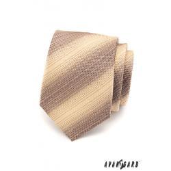 Pánská béžová kravata zn. Avantgard 559-1517-0