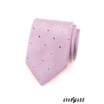Pánská růžová kravata zn. Avantgard 559-1575-0