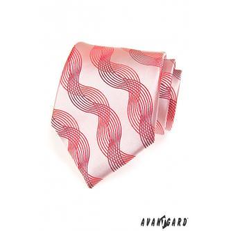 Pánská růžová kravata zn. Avantgard 559-70603-0
