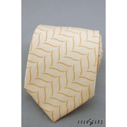 Pánská béžová kravata zn. Avantgard 559-81005-0