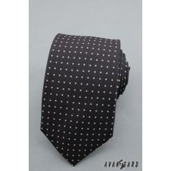 Pánská černá kravata SLIM LUX zn. Avantgard 571-1304-0