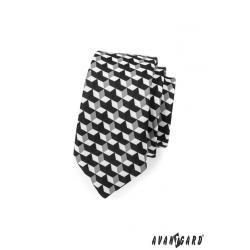 Pánská černá kravata SLIM LUX zn. Avantgard 571-1921-0
