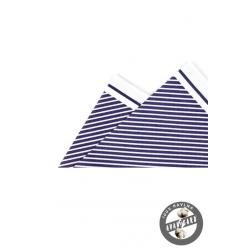 Kapesníček bílo-modrý bavlněný PREMIUM zn. Avantgard 610-5539-0