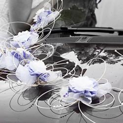 Dekorace na auto – květy