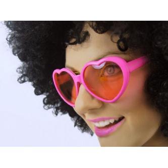 Komické brýle ve tvaru srdce, vhodné jako rekvizita do fotokoutku nebo pro svatební focení.