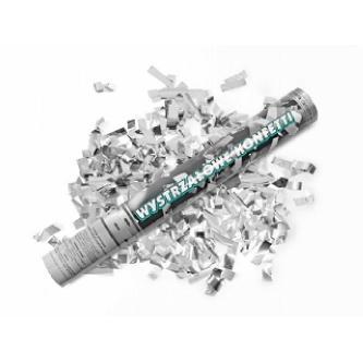"""<p class=""""product-desc"""">Vystřelující konfety - metalické proužky. Bezpečná a jednoduchá manipulace. Skvělá a efektní alternativa svatební rýže či bublifuků."""