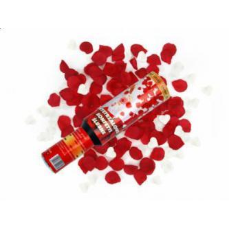 """<p class=""""product-desc"""">Vystřelující konfety – srdíčka a plátky růží. Bezpečná a jednoduchá manipulace. Skvělá a efektní alternativa svatební rýže či bublifuků. Tubus 30 cm."""