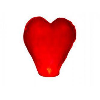 Létající čínský lampion štěstí ve tvaru srdce, ideální pro slavnostní příležitosti i nádherné svatební fotografie.