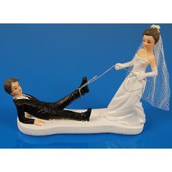 """Figurky na svatební dort """"Laso"""" 13 cm"""