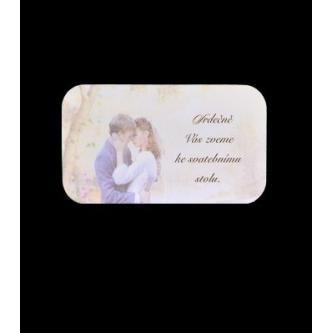 Pozvánka k svatebnímu stolu do setu k oznámení A1004.