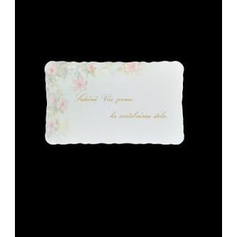 Pozvánka k svatebnímu stolu do setu k oznámení A1005.