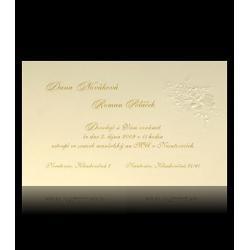 Svatební oznámení Classic A2502