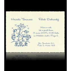 Svatební oznámení Classic A4101