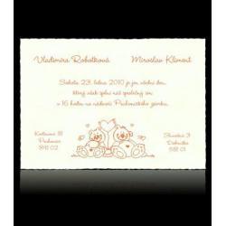 Svatební oznámení Classic A5208