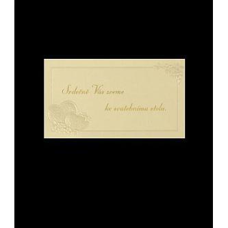Pozvánka k svatebnímu stolu do setu k oznámení C7501