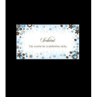 Pozvánka k svatebnímu stolu do setu k oznámení A1404.