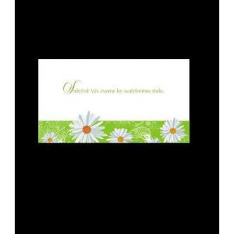 Pozvánka k svatebnímu stolu do setu k oznámení A1501.