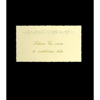 Pozvánka k svatebnímu stolu do setu k oznámení B1101