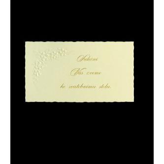 Pozvánka k svatebnímu stolu do setu k oznámení B2801.