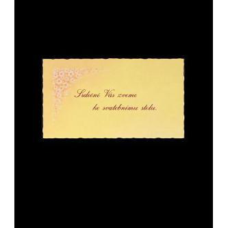 Pozvánka k svatebnímu stolu do setu k oznámení B4008.
