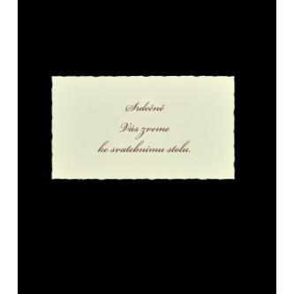 Pozvánka k svatebnímu stolu do setu k oznámení C1103