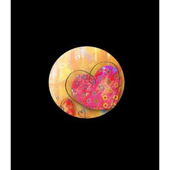 Moderní svatební oznámení, 137x137, barevná srdíčka.