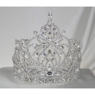 Svatební korunka, 5806-0014 - S00 - Krystal - stříbro
