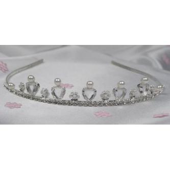 Svatební korunka, 5806-0001-MS01 - Krystal - stříbro