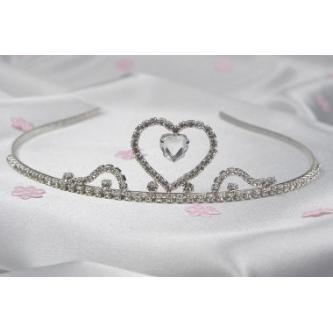 Svatební korunka, 5806-0002-S00 - krystal - stříbro