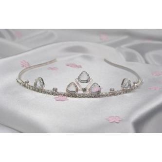 Svatební korunka, 5806-0008-S00 - krystal - stříbro