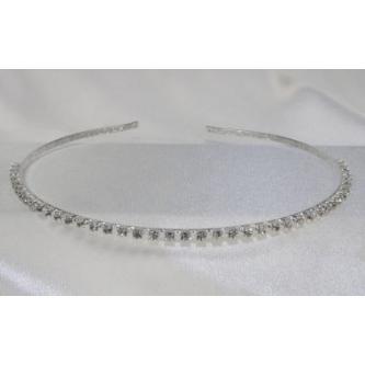 Svatební korunka, 5806-0020 - S00 - krystal - stříbro