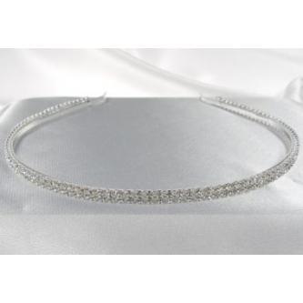 Svatební čelenka - 5806-0024 - S00 - Krystal - stříbro