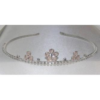 Svatební korunka, 5806-0032-S00 - krystal - stříbro