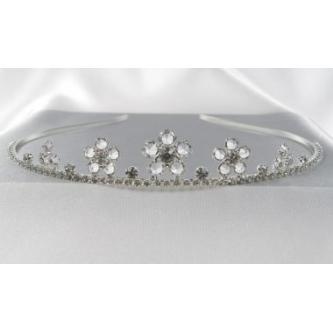 Svatební korunka, 5806-0033-S00 - krystal - stříbro