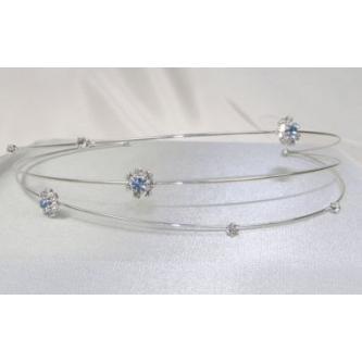 Svatební čelenka - 5806-0035 - S00 - Krystal - stříbro