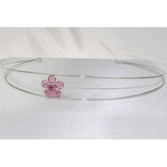 Svatební čelenka - 5806-0036 - S00 - Krystal - stříbro