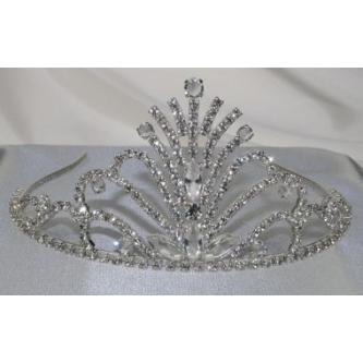 Svatební korunka, 5806-0037-S00 - S00 - krystal - stříbro