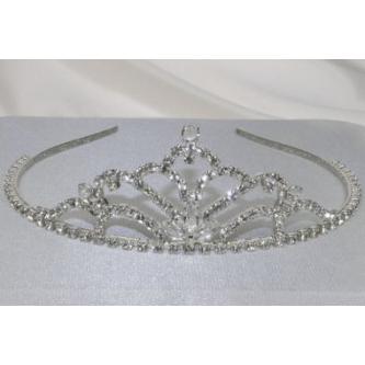 Svatební korunka, 5806-0038 - S00 - krystal - stříbro