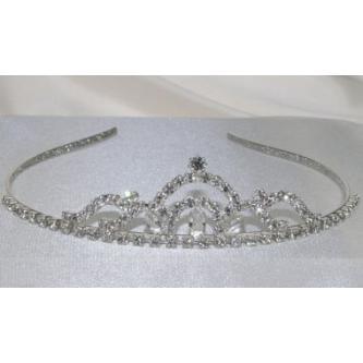 Svatební korunka, 5806-0039-S00 - krystal - stříbro