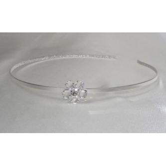 Svatební čelenka - 5806-0040 - S00 - Krystal - stříbro