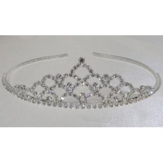 Svatební korunka, 5806-0042-S00 - krystal - stříbro
