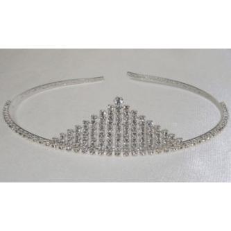 Svatební korunka, 5806-0041-S00 - krystal - stříbro