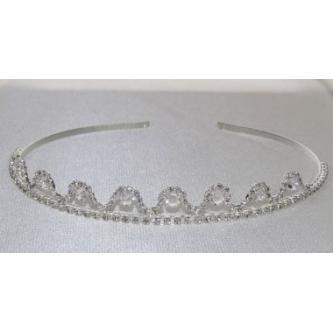 Svatební korunka, 5806-0043-S00 - krystal - stříbro