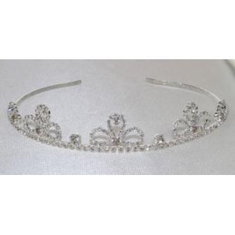 Svatební korunka, 5806-0044 - S00 - krystal - stříbro