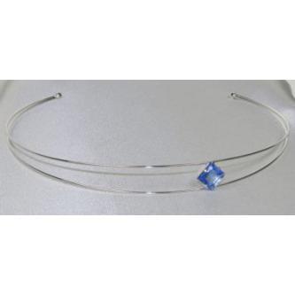 Svatební čelenka - 5806-0045 - S00 - Krystal - stříbro