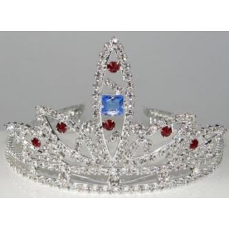 Svatební korunka, 5806-0053 - S00 - krystal - stříbro