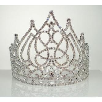 Svatební korunka, 5806-0060 - S00 - krystal - stříbro